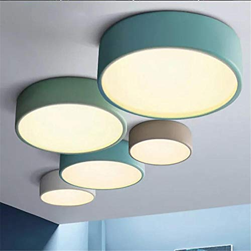 Lampadario a led a soffitto lampada a doppio scopo lampada in lega di alluminio corpo lampada a soffitto applicabile a camera 10-15m2, azzurro 35CM