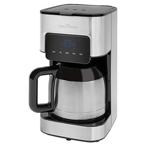 ProfiCook PC-KA 1191 Kaffeeautomat, elektronische Aromawahlfunktion, Sensor Touch-Bedienung, Edelstahl-Thermokanne (doppelwandig)
