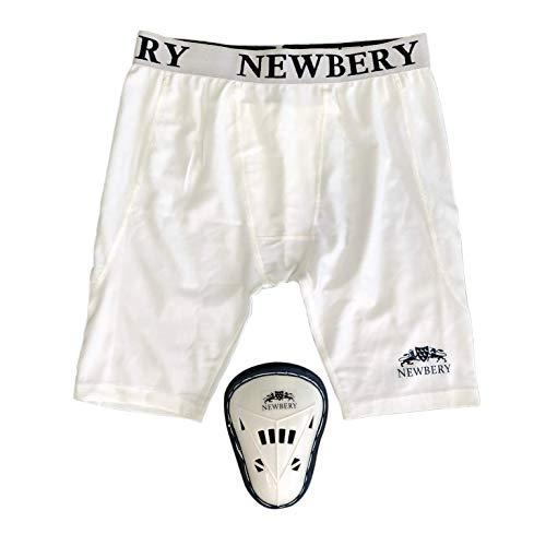 Newbery Cricket-Kompressionshose mit Bauchschutz, Größe XS, Weiß