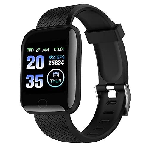 FITOYA Montre Connectée, Montre Sport Aptitude Podometre Femmes Homme Smartwatch,bande Cardiofrequencemètre Calories Moniteur de Sommeil Montre Intelligente Compatible Android iOS