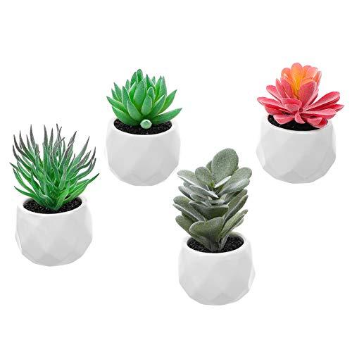 Yardwe 4 macetas en miniatura para casa de muñecas, para decoración de jardín, 4 unidades