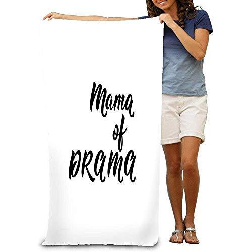 Asciugamano da bagno Asciugamano in microfibra per adulti Telo da bagno Mama Drama Lettering divertente Citazioni di ispirazione utilizzabili Stampe Borse Poster Carte Calligrafia