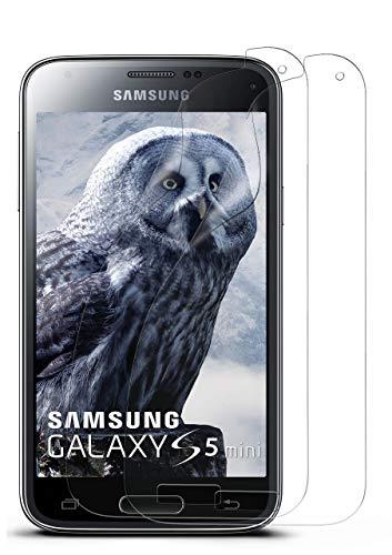 MoEx® Kristallklare HD Schutzfolie passend für Samsung Galaxy J1 (2015) | Bildschirmschutzfolie Kratzfest + Fast unsichtbar, Ultra Klar 2X Stück