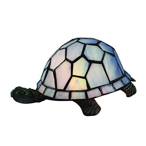 Tokira Tiffany Stil Kreativität Glas Lampeschirm Tischlampe Dunkelblau Schildkröte Tierische Tischlampe