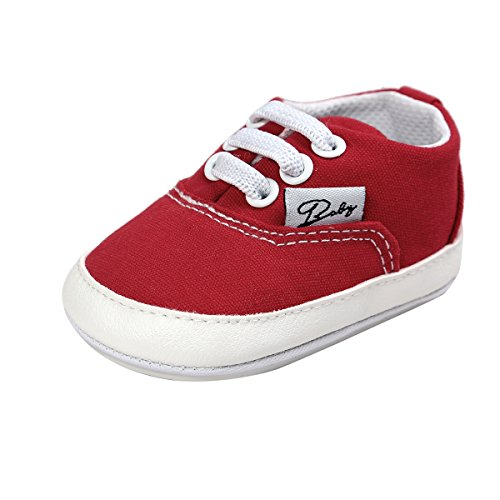 Baby Boys Red Canvas Shoes