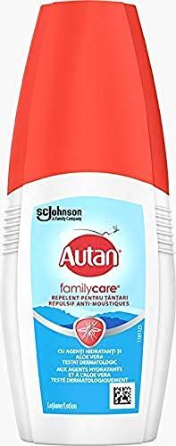 Autan Lotion de Protection pour Visage et Corps, Anti-Moustiques, Family Care, Répulsif, 100 ml