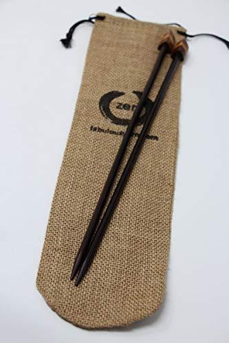 Zen Triangular Rosewood Knitting Needles (10  Rosewood - US6)