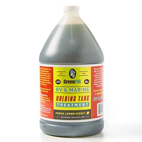 GREEN PIG RV and Marine Holding Tank Treatment, Breaks Down Waste, Eliminates Odors, Environmentally Friendly, 1 Gallon