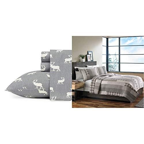 Eddie Bauer Elk Grove Flannel Sheet & Fairview Quilt Set