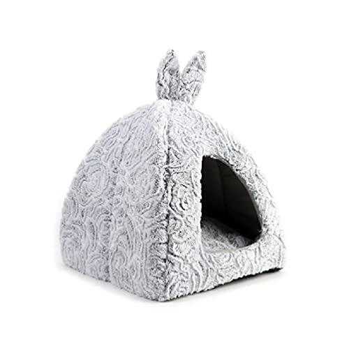 Rcevbocc - Cama para gatos y mascotas, manta de gatito, casa cálida, perros pequeños, plegable, cueva, lindo saco de dormir para mascotas, colchoneta de invierno plegable para perros
