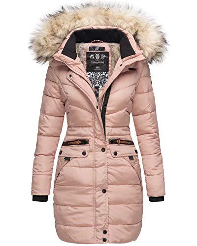 Navahoo Damen Winter Jacke Mantel Parka warm gefütterte Winterjacke B383 (M, Rosa)