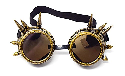 Premium quality cyberpunk goggles perfect for use with steampunk clothes and accessories or top hat Steampunk accessories from a trusted brand these steampunk glasses are adjustable in size Steam punk rave goggles and rave clothing which are great fo...
