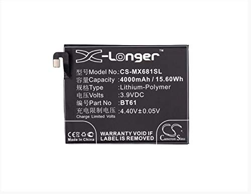 4000mAh battery for MEIZU L681C L681H L681Q M3 Note M3 Note Dual SIM M3 Note Dual SIM TD-LTE 16GB BT61