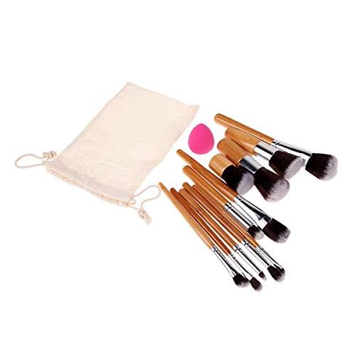 Brosses Maquillage de visage 11 pcs pinceau de maquillage + Éponge, Maquillage Brush Set (Color : As Shown, Size : One Size)