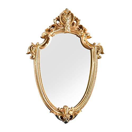 Fenteer Espejo Ovalado Estilo Barroco Espejos Decorativos para Pared de Oro, decoración Vintage, X Pulgadas