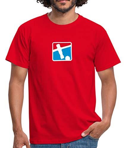 Kicker Soccer Player Tischkicker Männer T-Shirt, XXL, Rot