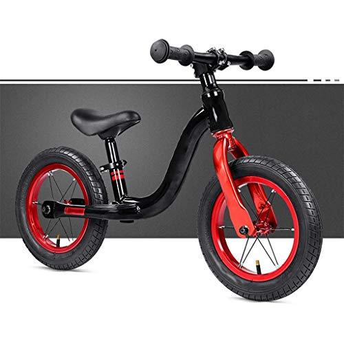 Kleinkind Balance Bike, Mädchen Jungen Kinderfahrräder, Kinder Strider Bike, Trainingsrad für 2, 3, 4 und 5 Jahre alte Kinder, 12 Zoll Räder Anfänger Fahrertraining für Baby / No Pedal Scooter Fahrra