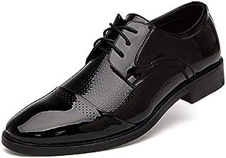 [PIRN] ビジネスシューズ 紳士靴 外羽根 ストレートチップ 革靴 通気性 吸湿吸汗性抜群 長い時間に履いても 靴の形を変わらない 足とぴったりフィット ばいきんの繁殖を抑えられる 足が痛くない 滑り止め 磨耗に耐える 耐久性抜群 長持ちできる メンズ 靴