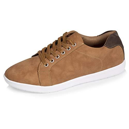 Isotoner - Zapatillas deportivas para hombre flexibles y ligeras, únicas, Beige (marrón claro), 43 EU