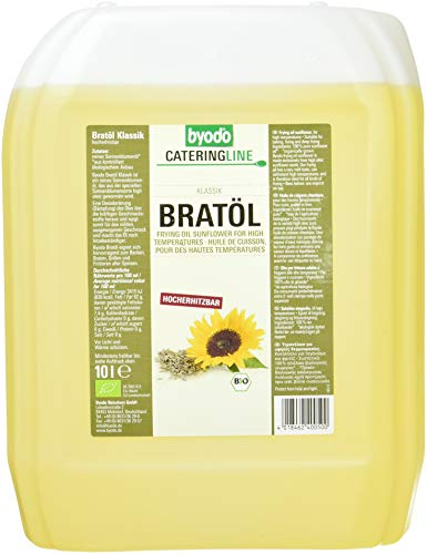 Byodo Bratöl, desodoriert, high-oleic, extra mild, 1er Pack (1 x 10 l Dose) - Bio