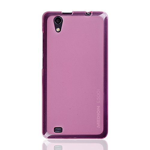 caseroxx TPU-Hülle & Bildschirmschutzfolie für Medion Life E5001 MD 99206, Set (TPU-Hülle in pink)