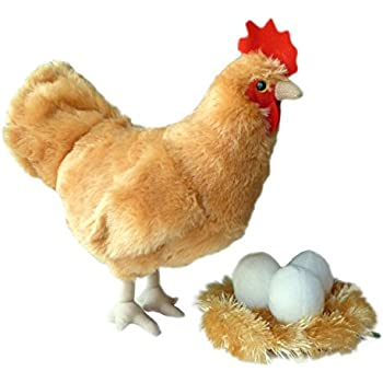 Playroom /& Nursery Pretend Pet MERCHSOURCE 1005286 Ultra Soft /& Snuggly Doll for Creative /& Imagination Play Children Ages 3 /& Up FAO Schwarz Chicks 4Pc Hen House Ban Stuffed Animal Toy Plush Girls for Boys