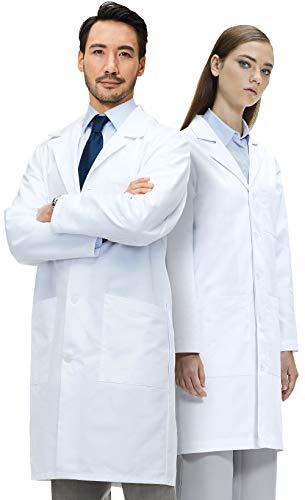 Lab Coat X Blouse Blanche Chimie Lycée 100% Coton, Unisexe, Blanc (M)