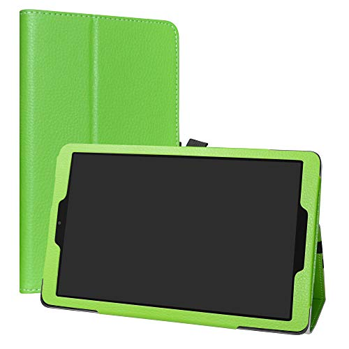 Alcatel A3 (10) WiFi Funda,LiuShan Folio Soporte PU Cuero con Funda Caso para 10.0' Alcatel A3 (10) WiFi Version Android Tablet (No es Adecuado para Alcatel A3 (10) 4G),Verde