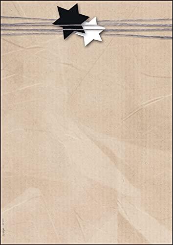 SIGEL DP079 Papel navideño, adornos navideños, 21 x 29,7 cm, 90 g/m2, beige, 100 hojas