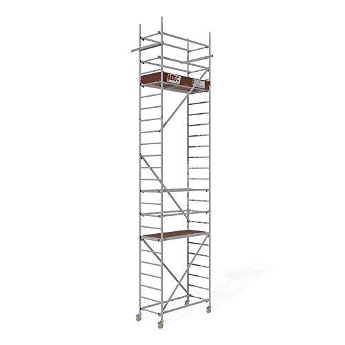 ALTEC Rollfix® 2.0 700 | 7m Arbeitshöhe | bremsb. Lenkrollen (Ø125mm) | Wandanker | Made in Germany | TÜV&GS | belastbar 200kg/m² | Norm - EN 1004:2005 | Modulares Arbeitsgerüst | Alu-Gerüst