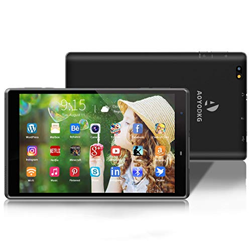 Tablet 8 Pulgadas Android 10.0 Tablets con 3GB RAM + 32GB ROM/128GB - WiFi | Bluetooth | 5000mAH,800 * 1280 IPS-Negro