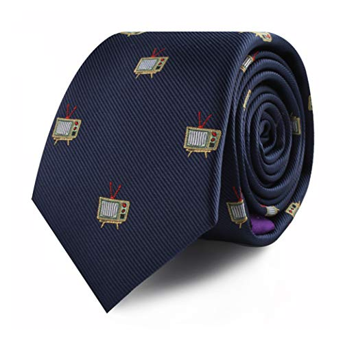 TV Lover Movie Netflix Television TV Shows Skinny Neckties | Present for Work Colleague | Tele Lover for Guys (TV)