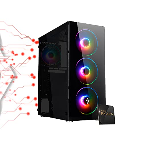 Pc gaming Ryzen 3 4300GE 4.00 Ghz Turbo,SSD M.2 NVMe 500 GB,Ram 16Gb 3200Mhz ,600w 80 Plus ,Wi Fi...