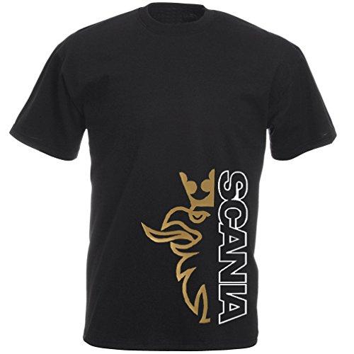 Scania Trucker Shirt: Scania Greif Gold mit Scania Schriftzug in Weiss