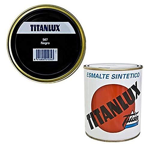 Titanlux - Esmalte sintético, Negro, 375 ML (ref. 001056738)