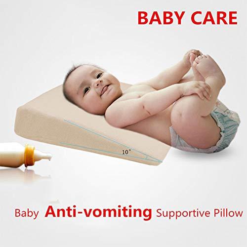 MeterMall Home Decor Wedge Bed Kussen Verhoogd Ondersteunend Kussen voor Baby Slant Acid Reflux Anti-braken benodigdheden