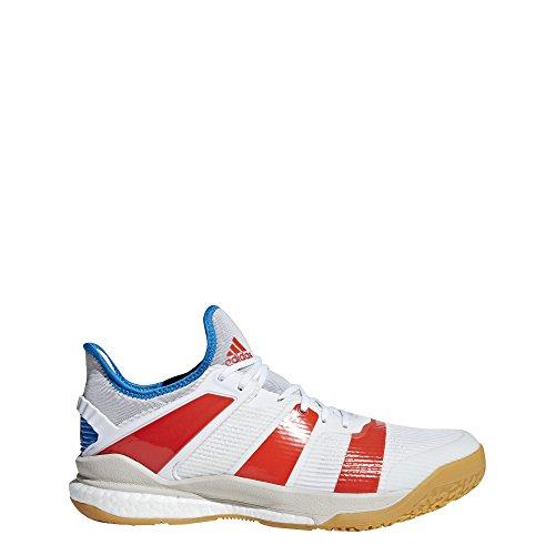 Adidas Stabil X, Zapatillas de Balonmano para Hombre, Blanco (Ftwbla/Rojsol/Azubri 000), 51 1/3 EU