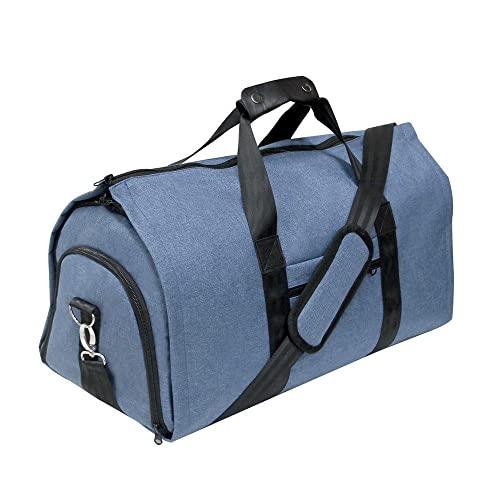 Tuta da uomo, borsa porta abiti, borsa da viaggio multiuso, tuta da viaggio trolley aereo, borsa sportiva all'aperto-blu_52*25*28 cm
