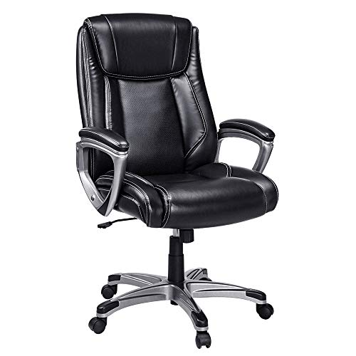 VANSPACE Executive Office Chair High Back EC01, Leather Executive Chair Bonded Leather Office Chair,...