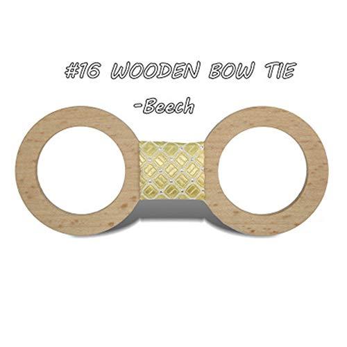 ZSRHH-Neckchiefs Halstücher Bow Tie Männer formelle Kleidung englischer Bogen Bräutigam Hochzeit hölzerne Fliege (Farbe : 16, Größe : Free Size)