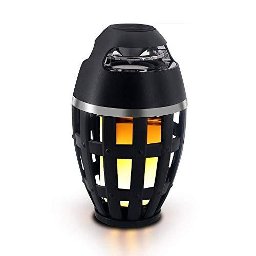 LIPENLI Flamme Tischlampe Bluetooth Lautsprecher Creative Computer Telefon Subwoofer drahtlose Bluetooth Lautsprecher im Freien Lautsprecher-Licht-Stilvoll und schön