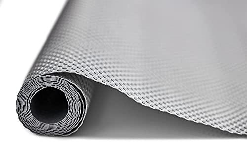 Schubladeneinlagen | Küchenschublade Organizer rutschfest EVA (graue Noppen) Gummimatte Rolle für Küchenregale