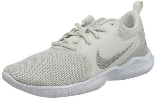 Nike Wmns Flex Experience RN 10, Zapatillas para Correr Mujer, White Mtlc Silver Platinum Tint LT Smoke Grey, 42 EU