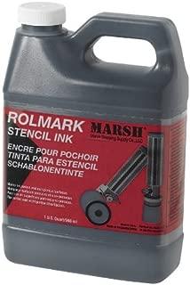 MARSH Rolmark Stencil Ink, 1 qt Can, Black