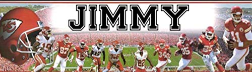 Kansas City Chiefs - 8.5'x30' Personalized Name Poster, Customize Name Sign, Birthday Party Banner