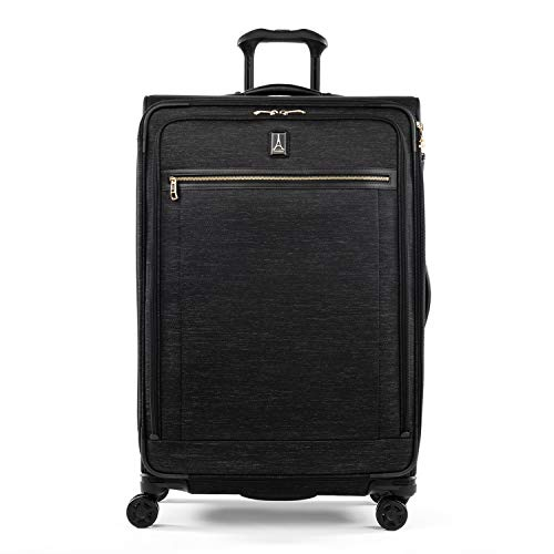 Travelpro Platinum Elite-Softside Expandable Spinner Wheel Luggage, Intrigue Black, Carry-On 21-Inch