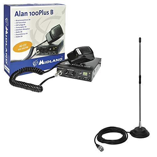Midland Paquete Radio CB Alan 100 + Extra 40 PNI Antena con Base magnética