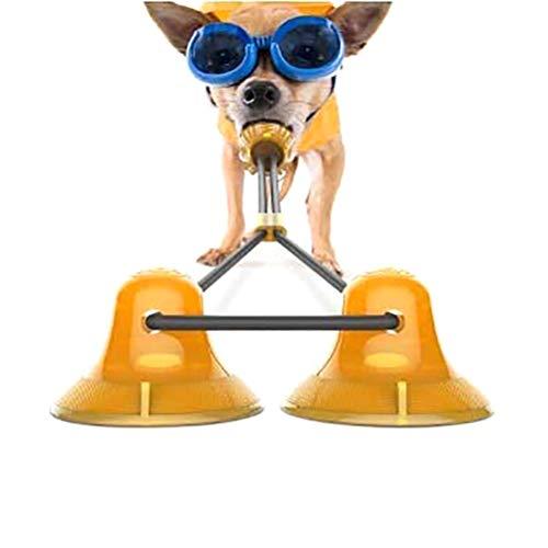 Asamio Doppel-Saugnapf Haustier Molar Spielzeug Hund Zähne Reinigung Spielzeug Bissfest Spielzeug