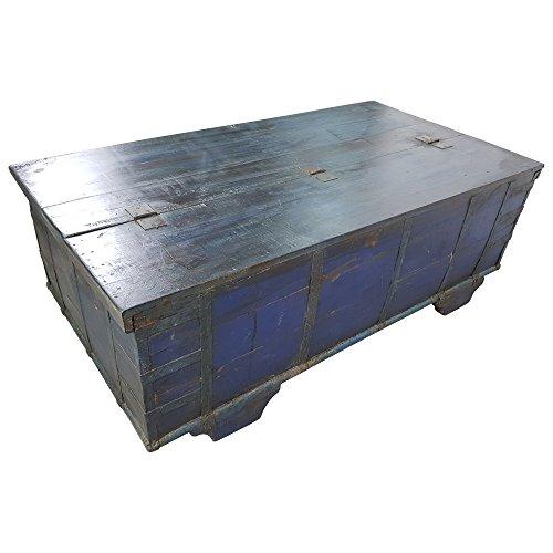 Indoortrend.com Truhen-Tisch Couchtisch Holz-Kiste Wohnzimmertisch Aufbewahrung Vintage Massiv - 4
