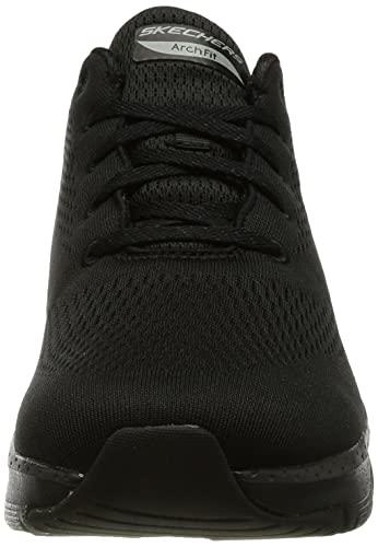 Skechers Arch Fit, Zapatillas Mujer, Negro (Black Mesh/Trim Bbk), 40 EU